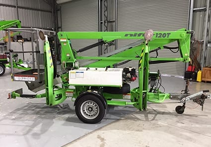 Used cherry pickers work platforms for sale niftylift nifty 120tpe trailer mounted ewp sciox Gallery